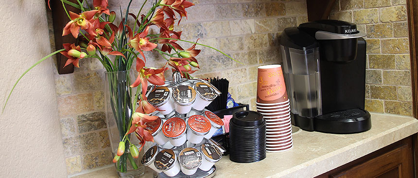 Complimentary Coffee Bar - Andover Family Dentistry